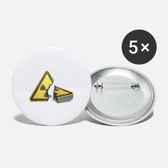 Symbol  Buttons - Atomausstieg! Nuclear power, no thank you! - Large Buttons white