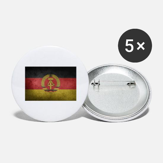 Hammer Buttons - Old flag of the GDR - Large Buttons white
