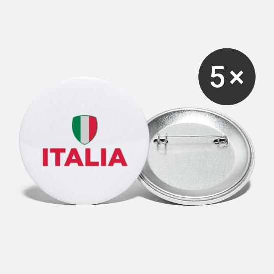 Turin Buttons - National flag of Italy - Large Buttons white