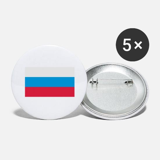 Country Buttons - National Flag of Russia - Large Buttons white