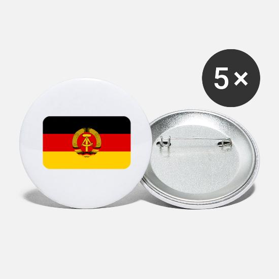 Flag Buttons - GDR FLAG round corner 400 dpi - Large Buttons white