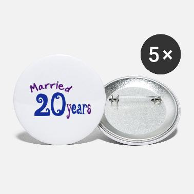 Hochzeitsreise wedding day - Large Buttons