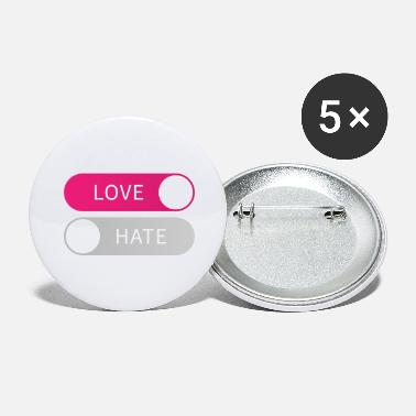 Idé Buttons Love On Hate Off Button Love To Hate From Gift - Store buttons