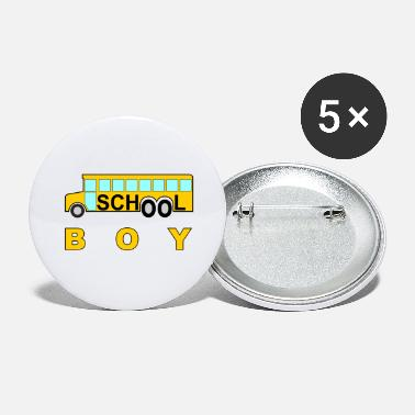 School school school boy school school bus #school% school - Large Buttons
