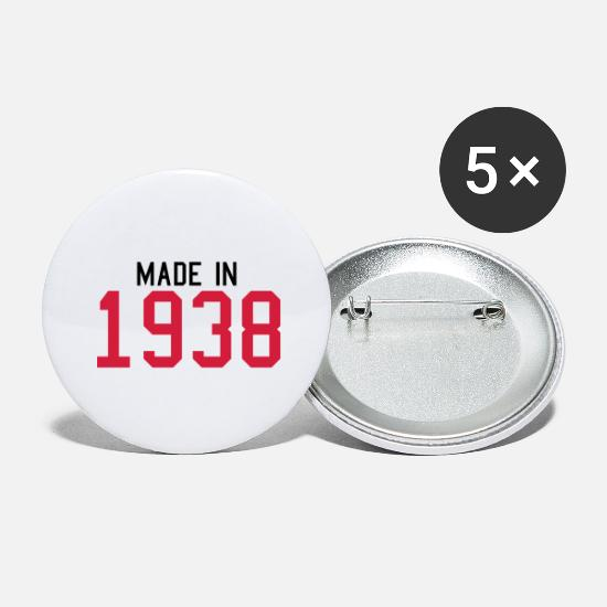 Birthday Buttons - 1938 - Large Buttons white