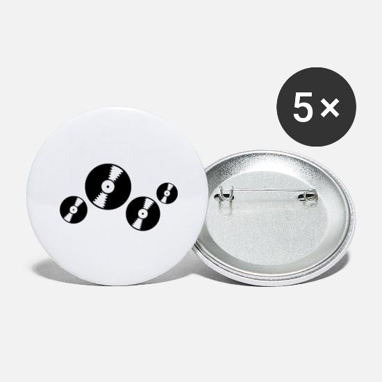 Dj Buttons - Vinyl records - Large Buttons white