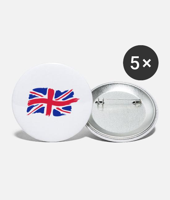 Great Britain Buttons - unionjackbrush - Large Buttons white