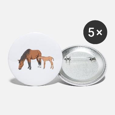 Mare Mare and Foal - Large Buttons