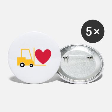 Equipment Rack ★ Design colors changeable ★ Forklift with heart - Large Buttons