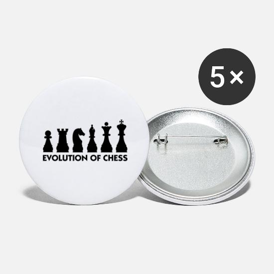 Chess Buttons - The Evolution of Chess - Large Buttons white