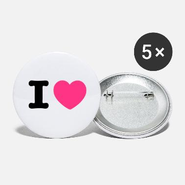 I Heart i heart heart - Large Buttons