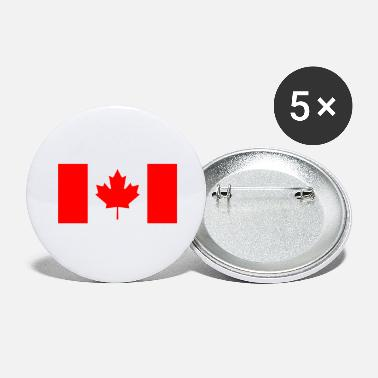 Canada Canada Canada vlagbanner - Buttons groot