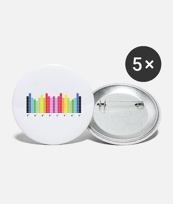 Bass Buttons - Festival - Festival Summer - Large Buttons white