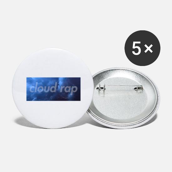 Rap Buttons - cloud rap - Large Buttons white