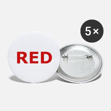 Red RED - Large Buttons