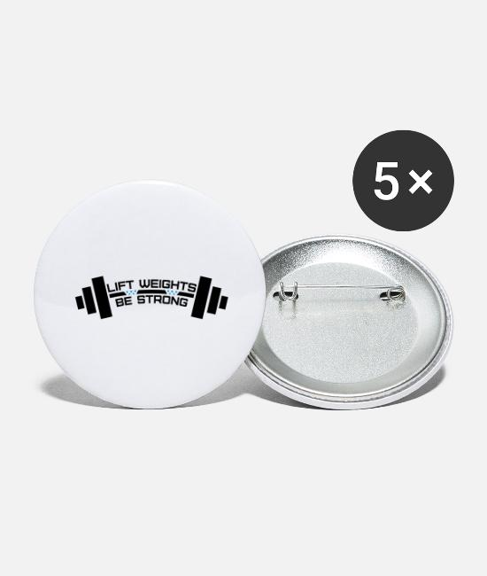 Mma Buttons - Weightlifting - Large Buttons white