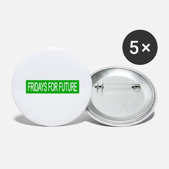 Politics Buttons - Fridays for Future -green- - Large Buttons white