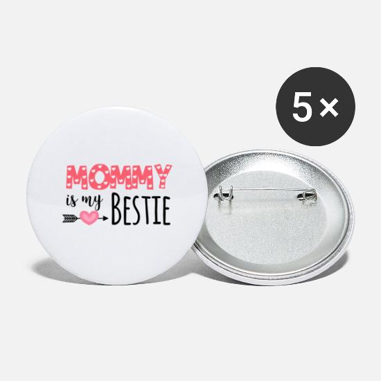 Gift Idea Buttons - Best Friends Mom Mother's Day Mother's Day Gift - Large Buttons white