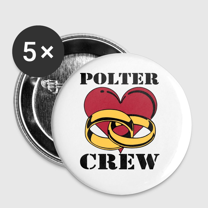 Polter Crew farbe - Buttons groß 56 mm