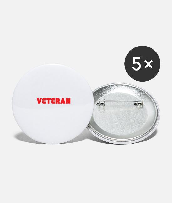 Veteran Buttons - Veteran - Smart, good looking and Veteran. - Large Buttons white