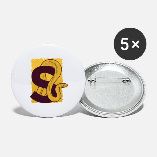Serpent Buttons - Serpent with the letter S. - Large Buttons white