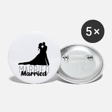 Married Couple Wedding couple, couple, married, married - Large Buttons