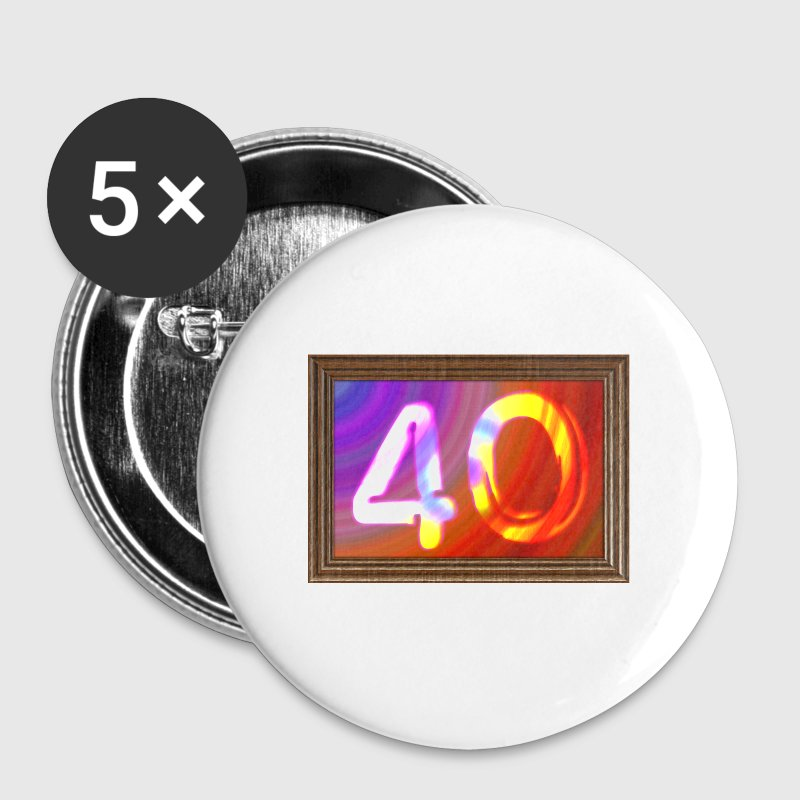 40 ans - photo anniversaire - Badge grand 56 mm