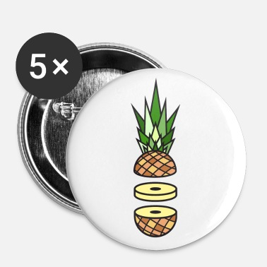 Ananas - Buttons groß 56 mm