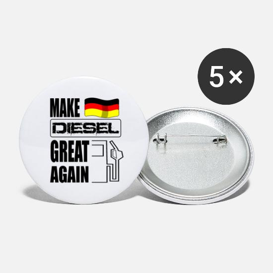 Diesel Buttons - Make Diesel Great Again diesel driver driving bans - Large Buttons white