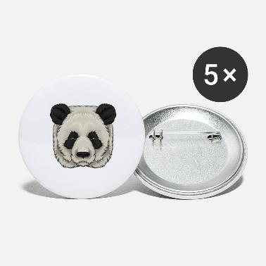 Panda Panda panda bear panda head - Large Buttons