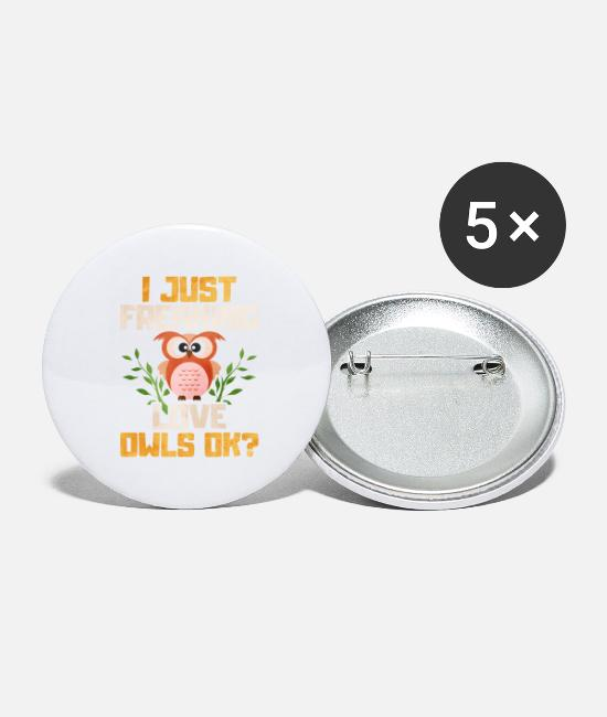 Hibou Badges - hibou - Grands badges blanc