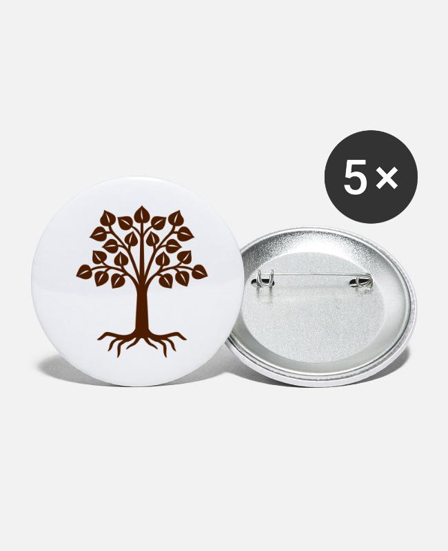 Nature Buttons - tree - Large Buttons white