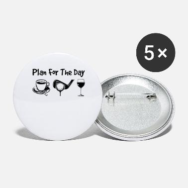 Fanmeile Plan For The Day Coffee Golf Wine - Buttons groß