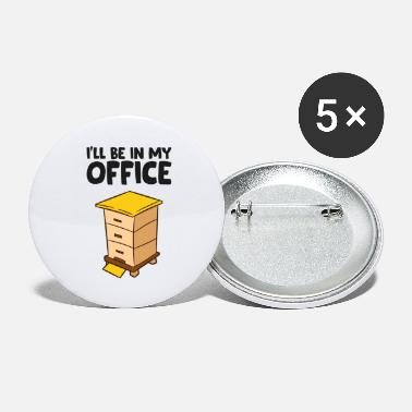 Beekeeper Funny Bee Lover Ill Be In My Office - Large Buttons
