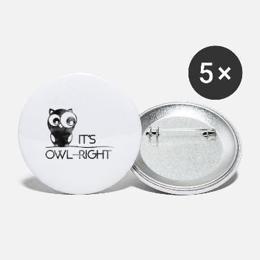 Eule Owl Right | Eule - Buttons groß