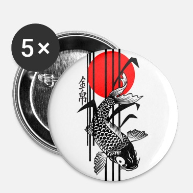 Bamboo Design - Nishikigoi - Koi Fish 3 - Buttons groß 56 mm