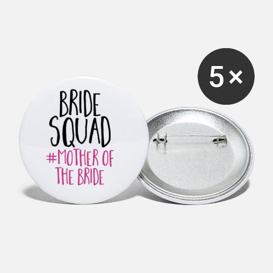 Bride Bottoni & Spille - Bride Squad Mother Bride - Spille grandi bianco