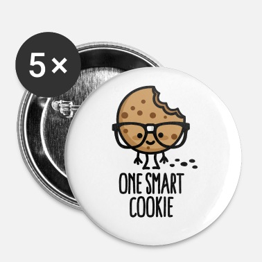 One smart cookie lief slim leerling nerd school - Buttons groot 56 mm (5-pack)