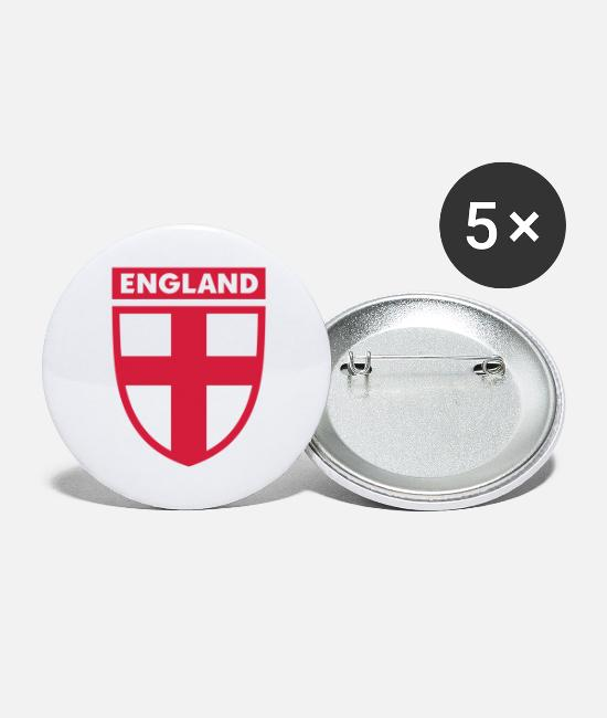 St Buttons - englandlapel1 - Large Buttons white
