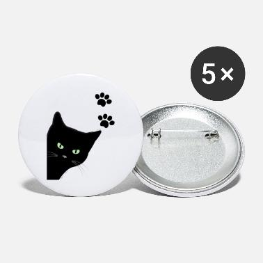 kitty's green eyes cat - Large Buttons