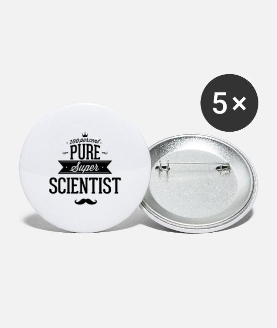 Professor Buttons - To 100% scientists - Large Buttons white