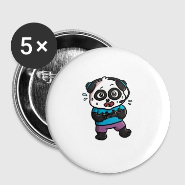 Noob Gamer Panda - Buttons large 56 mm