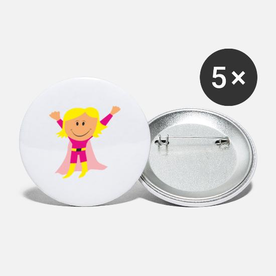 Girl Power Buttons & Anstecker - Girl - Buttons groß Weiß