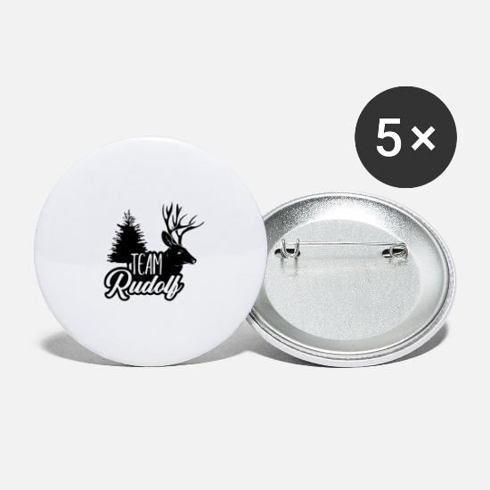 Rudolf Buttons - Team Rudolf - Large Buttons white