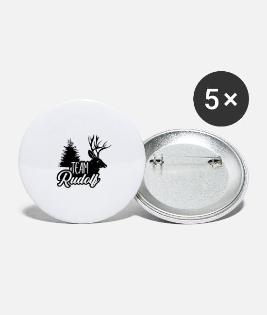 Cute Buttons - Team Rudolf - Large Buttons white