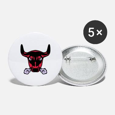 Nostrils nostril smokes bull 1 - Large Buttons