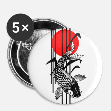 Bamboo Design - Nishikigoi - Koi Fish 1 - Buttons groß 56 mm