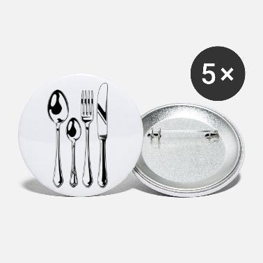 Cutlery Cutlery Set black - Buttons groß
