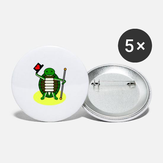 Turtle Buttons - Turtle dancing Funny pictures - Large Buttons white