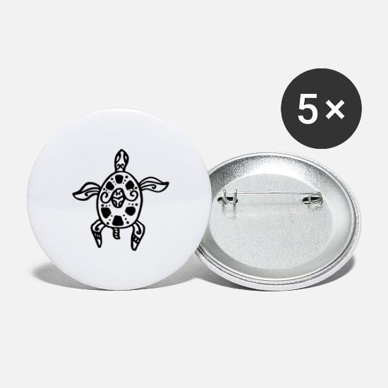 Turtle Buttons - turtle tatoo - Large Buttons white